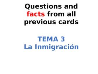 AQA Spanish Facts and Questions Tema 3 - La Inmigración