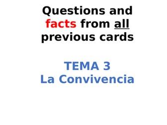 AQA Spanish Facts and Questions Tema 3 - La Convivencia