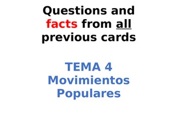 AQA Spanish Facts and Questions Tema 4 - Movimientos Populares