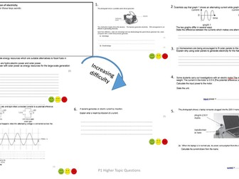 Edexcel Combined Science (9-1) Physics Paper 2 Exam Questions