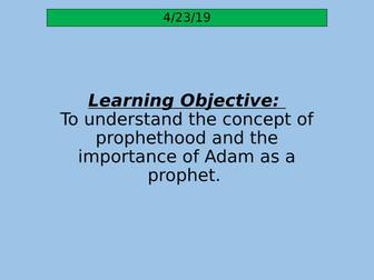 Prophethood and Adam