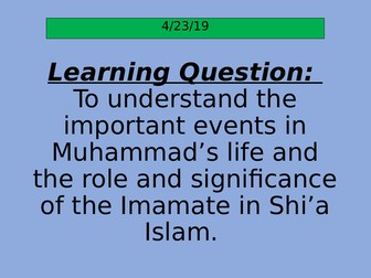 Muhammad and the Imamate