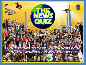 The News Quiz 22nd - 29th April 2019 Form Tutor Time Current Affairs Topical Settler Starter
