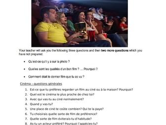 GCSE French Speaking Exam Practice - Cinema