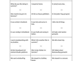 KS3 German Holidays Quiz Quiz Trade