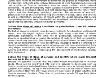 ALEVEL GEOG A* MODEL ANSWERS - GLOBAL SYSTEMS