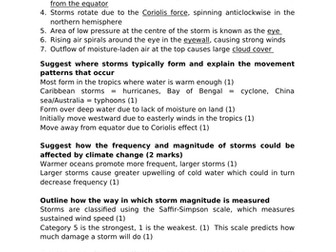 ALEVEL GEOG A* MODEL ANSWERS - STORMS AND WILDFIRES