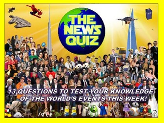 The News Quiz 29th April -6th May 2019 Form Tutor Time Current Affairs Topical Settler Starter
