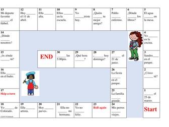 Ser vs. Estar Board Game: 2 Versions Differentiated (Sub Plan)
