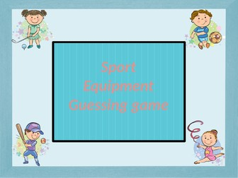 Sport equipment. Guessing game.