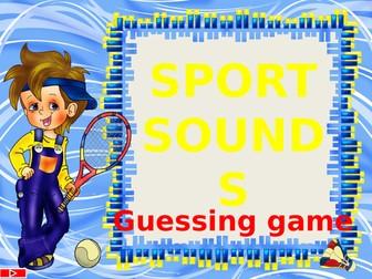 Sport sounds. Listening game.