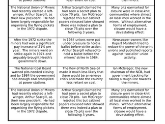 AQA A Level 7042 - Britain 2S - why did the miners go on strike in 1984?