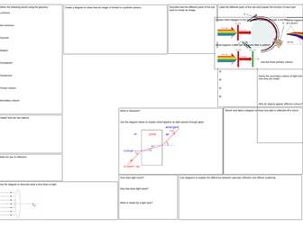 Light Revision Mat
