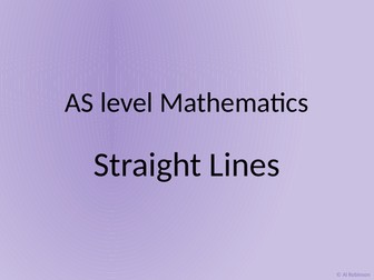 A level AS Mathematics Straight lines and Inequalities