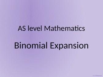 A level AS Mathematics Binomial Expansion