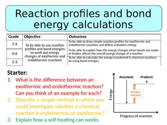 NEW AQA GCSE (2016) Chemistry  - Reaction Profiles & Bond Energy Calculations