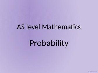 A level AS Mathematics Probability