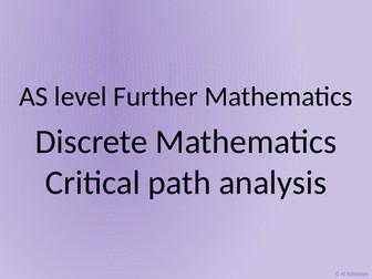 AS level Further Maths Discrete – Critical path analysis