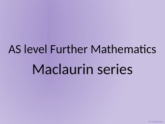 AS level Further Maths Maclaurin series and Proof by induction
