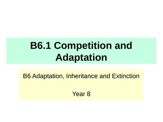 Activate KS3 Science - B6 Adaptations and Inheritance