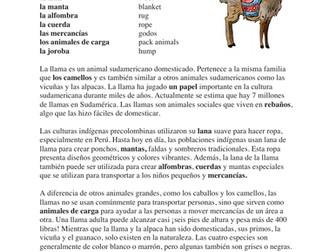 Llamas Cultura y lectura: Latin American Animal Spanish Reading / Incans