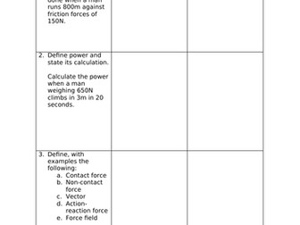 Edexcel Combined Science (9-1) CP7-8 Revision Activity