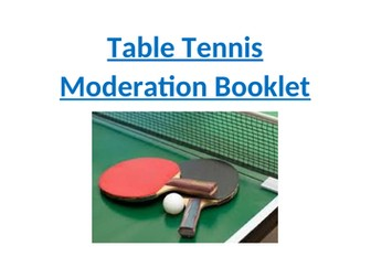 Table Tennis moderation booklet