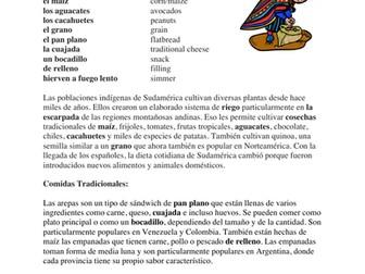 Comida Sudamericana Lectura y Cultura: Empanadas, Arepas, Asados etc.