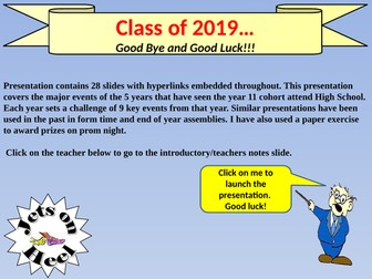 Class of 2019, goodbye and good Luck