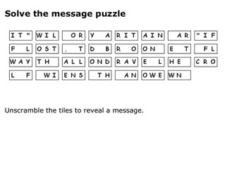 Solve the message puzzle about the Tower of London ravens