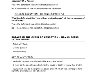 A-Level Law Causation Structure Template