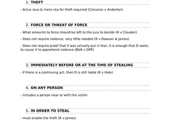 A-Level Law Robbery Structure Template