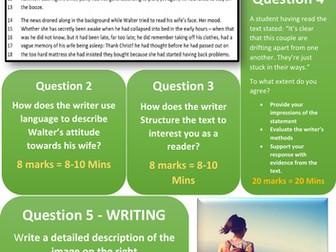 AQA 8700 English Language - 6 Colourful Micro Mocks - Papers 1 & 2