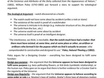 Paley's Design Argument