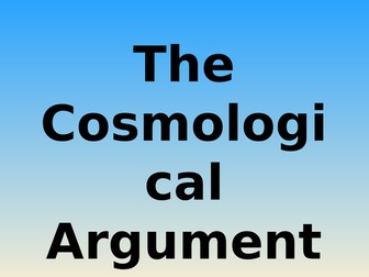 The Four Causes - Cosmological Argument