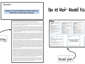 No et Moi- Model Essay and Plan- Thème des SDF- A Level French
