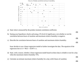Edexcel Large Data Set Practice Papers