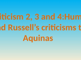 Criticisms of the Cosmological Argument