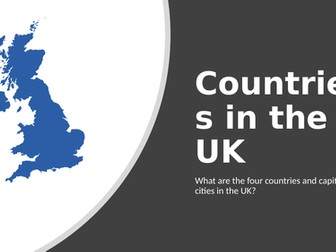 KS1 geography UK countries