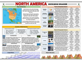 North America Knowledge Organiser/ Revision Mat!