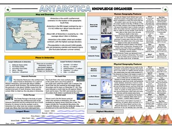 Antarctica Knowledge Organiser/ Revision Mat!
