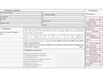 KS3 - French - Allez 1 - Autour de moi  - grammar & revision (Allez 1 unit 3)