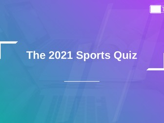2019 Sports Quiz