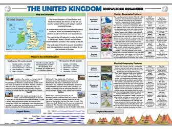 Locational Knowledge - United Kingdom - Knowledge Organiser!