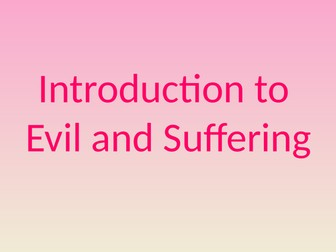 Introduction to the Problem of Evil