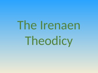 The Irenaean Theodicy