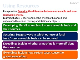 7Ie Using resources (Exploring Science)