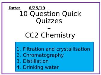 Chemistry 10 Question Quizzes - Separation Methods