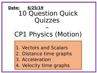 Physics 10 Question Quizzes - Motion