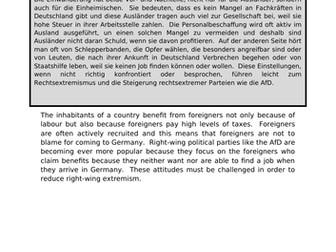 Einwanderung - translation into German.